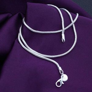 Silver 925 necklace lobster claw